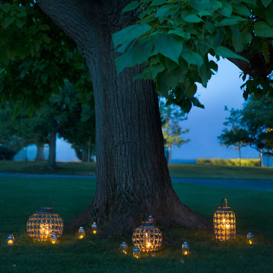 Outdoor lanterns from RH Modern