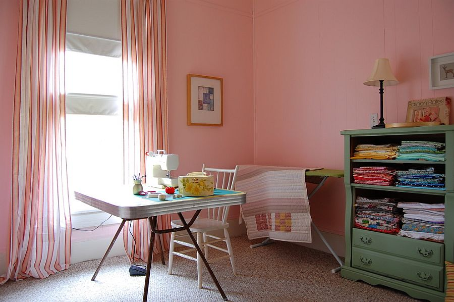 Pale pink for the home office and crafts zone [From: Corynne Pless]