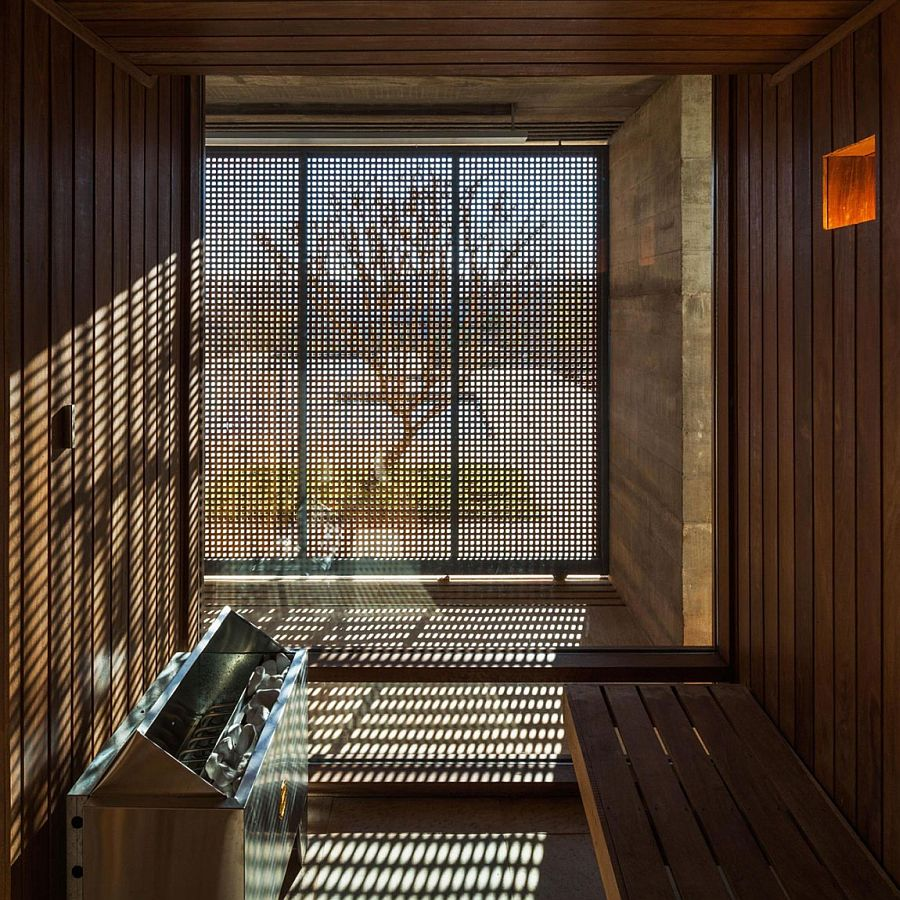 Perforated frame of the doors combines privacy with ample ventilation