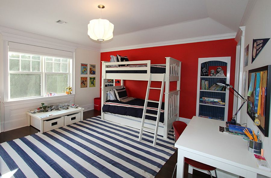Fiery And Fascinating 40 Kids' Bedrooms Wrapped In Shades Of Red Adorable Kids Bedroom Decoration Ideas