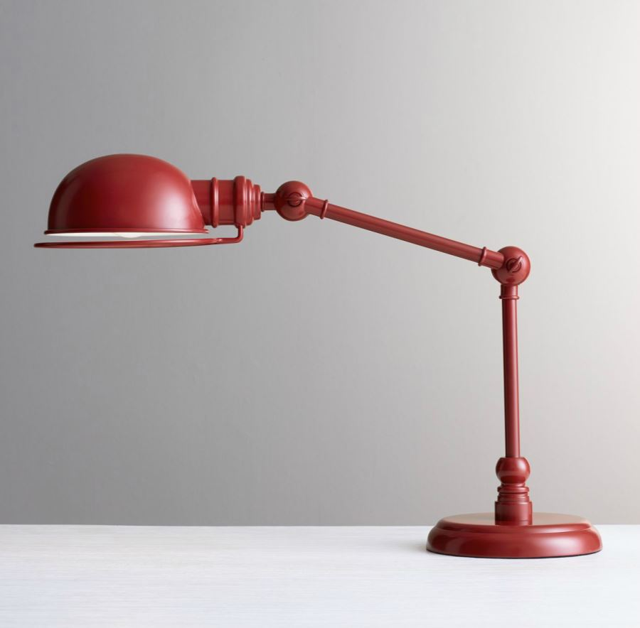 Red task lamp from RH Baby & Child