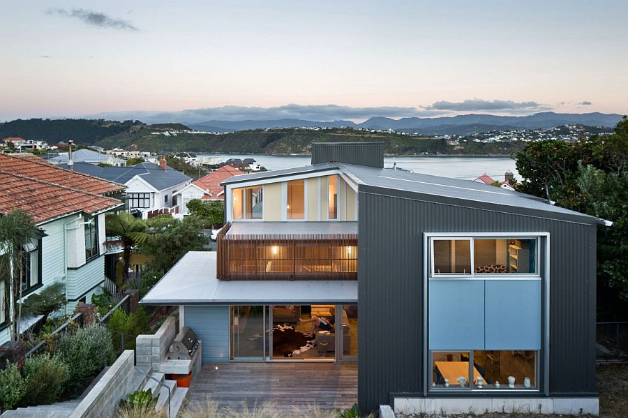 Revamped Wellington villa in New Zealand with a spacious wooden deck