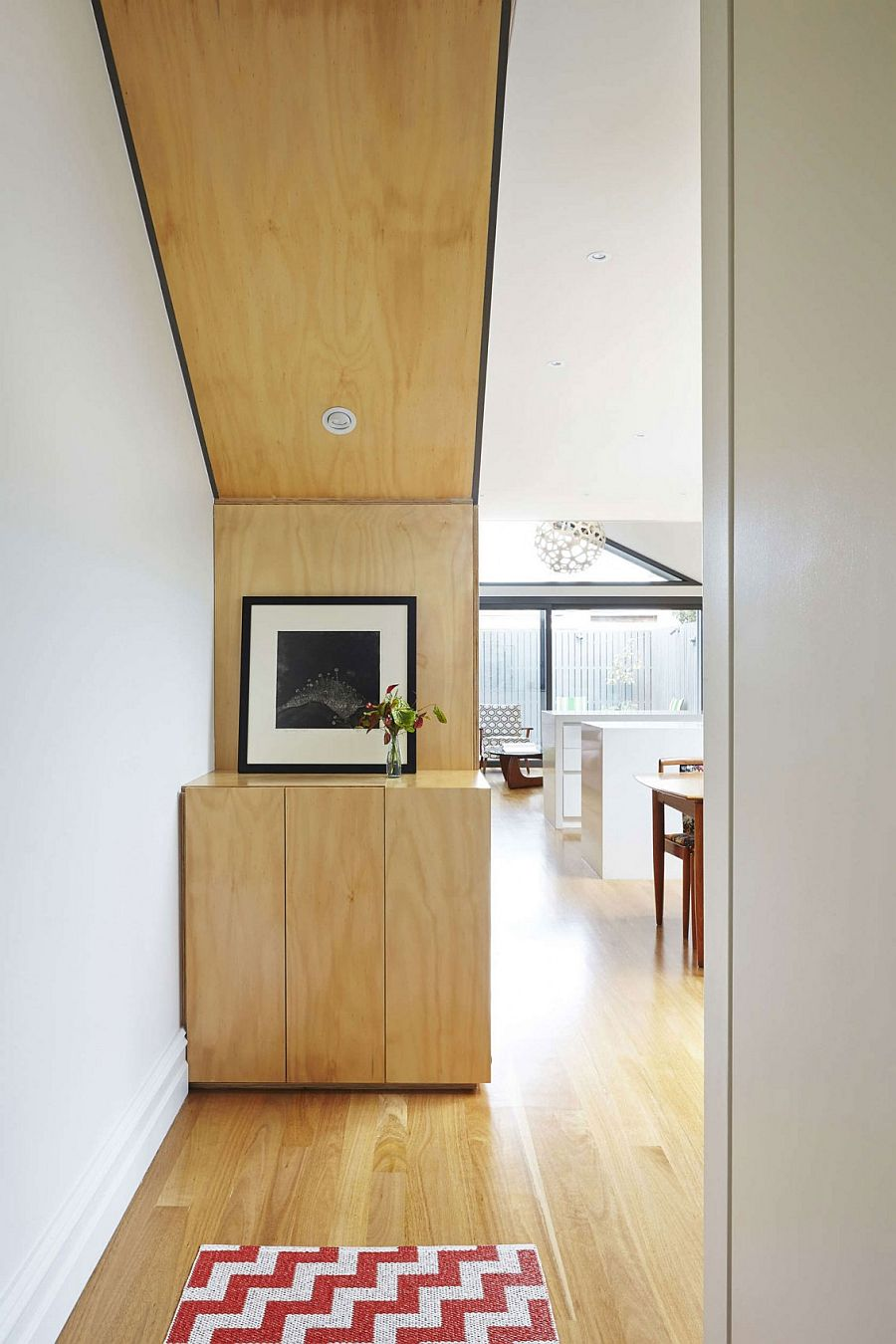 Revamped interior of the Victorian terrace house in Melbourne seems surprisingly spacious