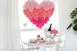 Romantic Valentine's Day decor from A Beautiful Mess