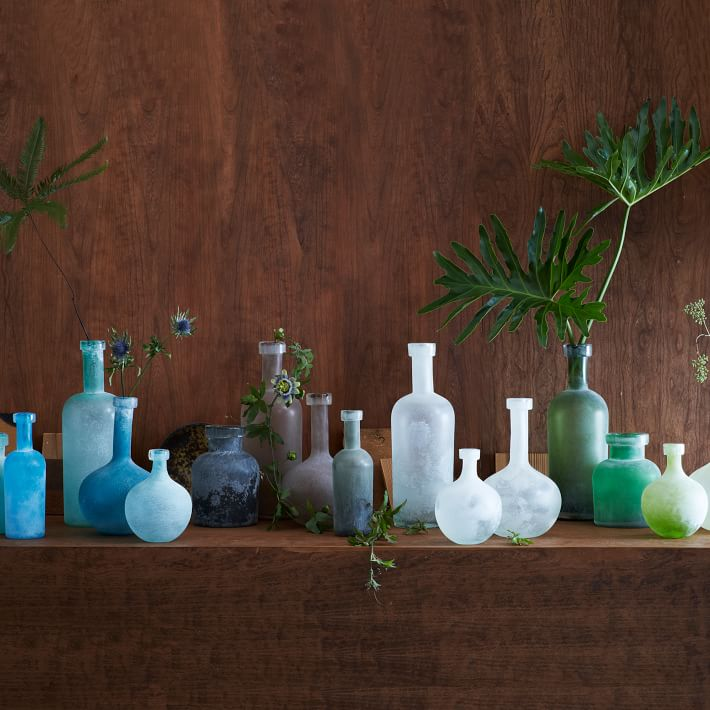 Sea glass-style vases from West Elm