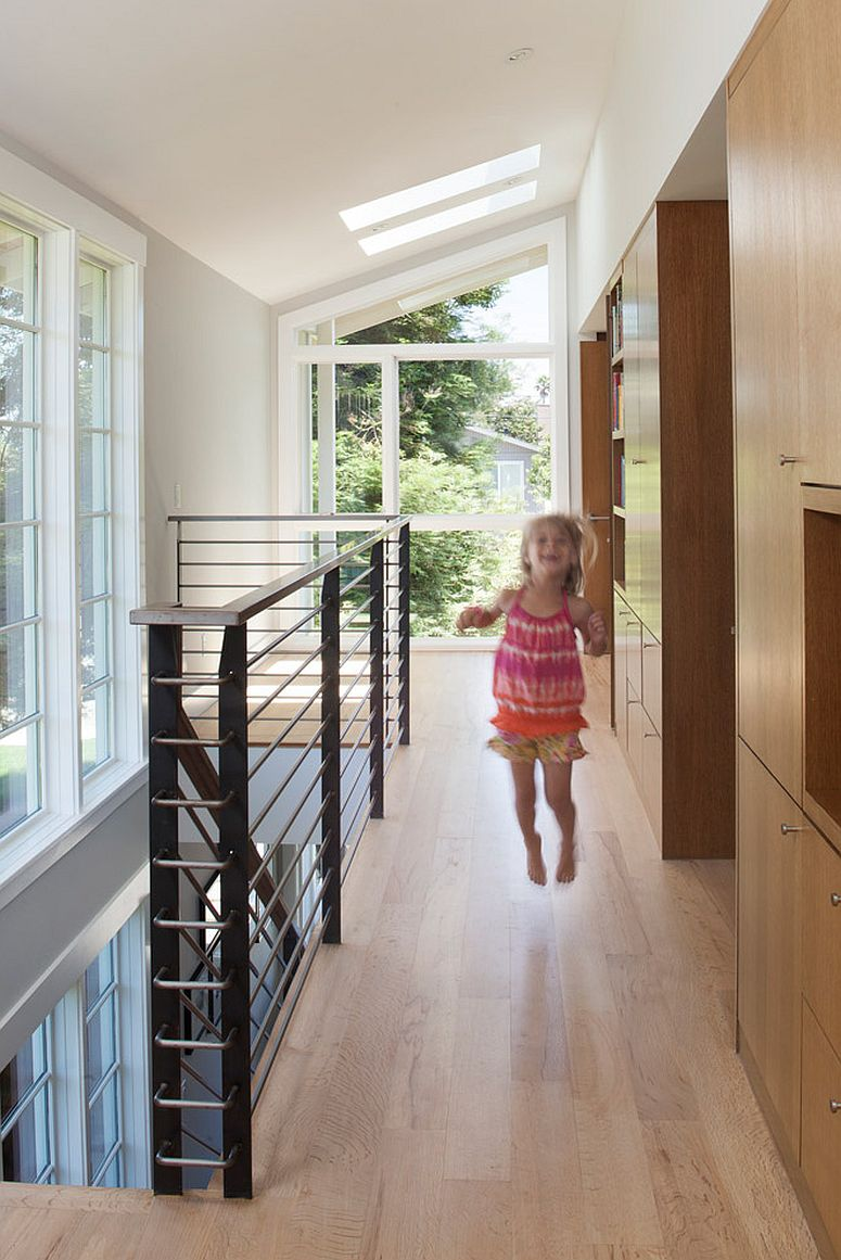View in gallery second level kids bedrooms and storage spaces