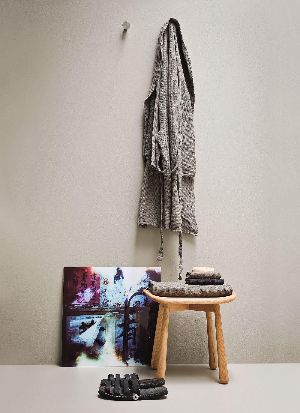 Simple shower stool designed by Monica Graffeo