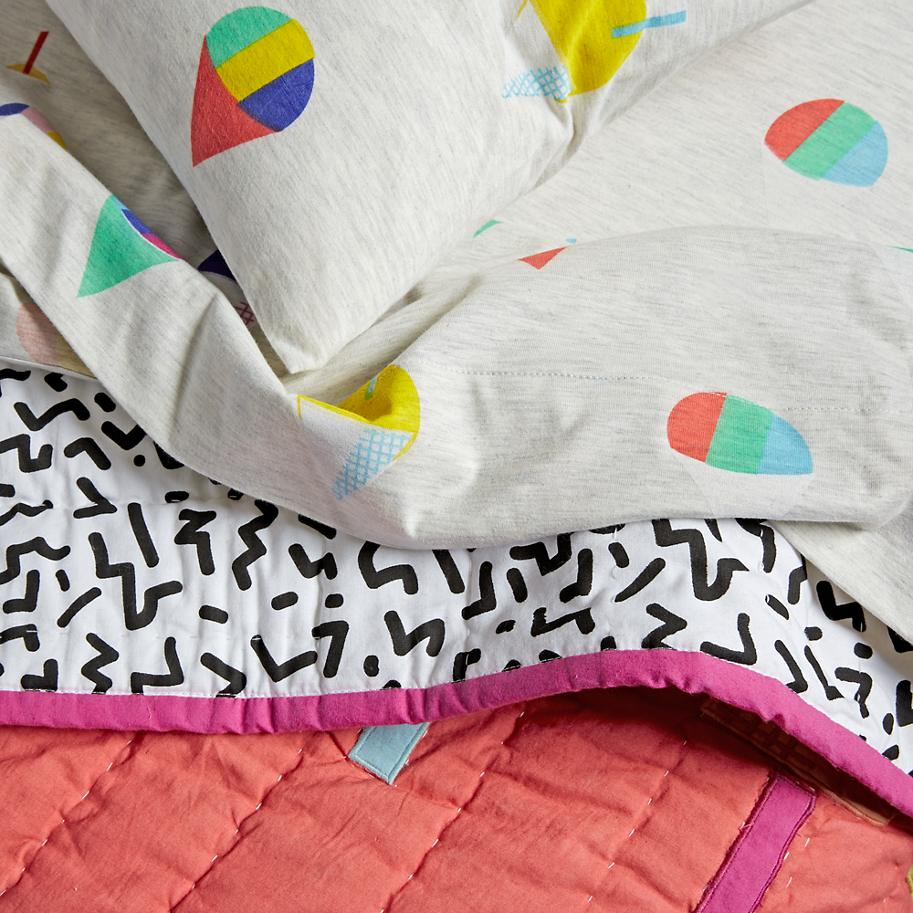 Snow cone bedding from The Land of Nod