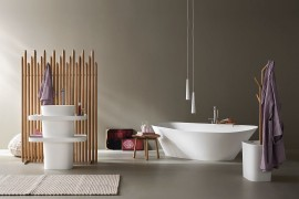 Fonte and Esperanto: Bathroom Décor Brings Home Spa-Style Refinement