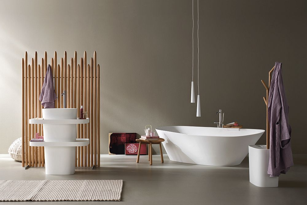 Fonte And Esperanto: Bathroom Décor Brings Home Spa Style Refinement