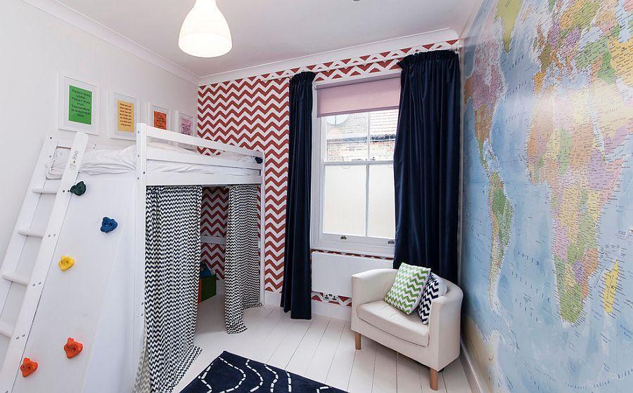 Space savvy and stylish boys  bedroom design  Design  aegis interior  design. 25 Kids  Bedrooms Showcasing Stylish Chevron Pattern