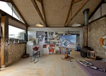 Spacious home studio with ample natural ventilation