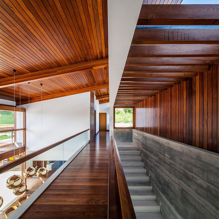 Spacious interior of FT Residence with a stylish walkway