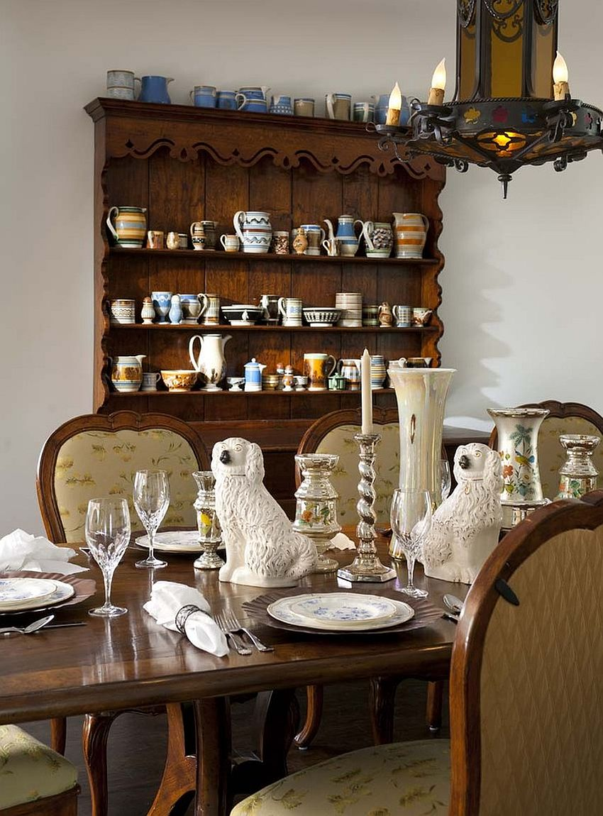 View In Gallery Spanish Colonial Dining Room With A Beautiful Hutch And  Lovely Lighting [Design: Astleford Interiors