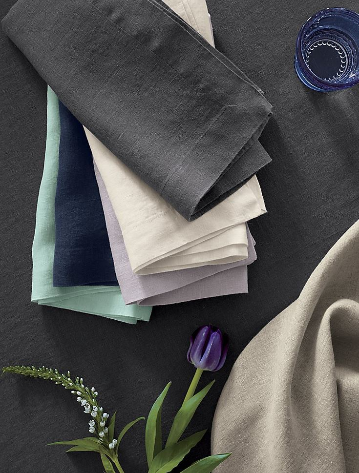 Spring linens from Crate & Barrel