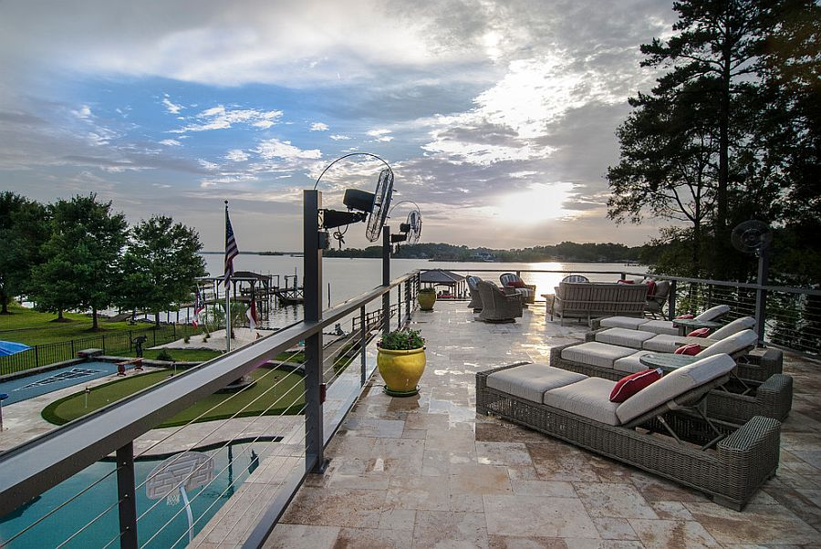 Stunning deck offers captivating lake views