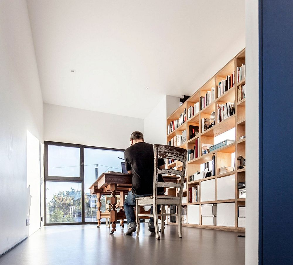 Stylish home office on the third floor offers the necessary serenity