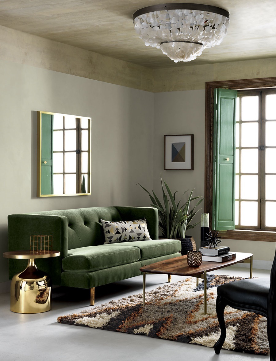 Stylish living room from CB2