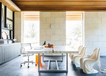 Stylish tropical home office 217x155 A Study in Textural Splendor: Exquisite Home Offices with Stone Walls