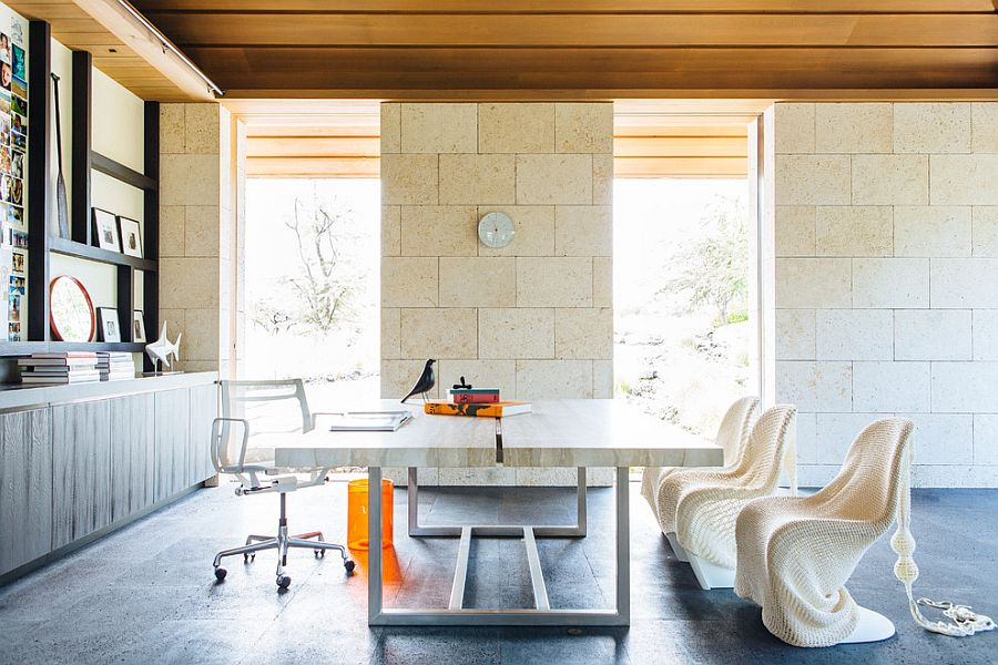 15 Exquisite Home Offices with Stone Walls