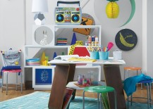Table with built-in storage from The Land of Nod