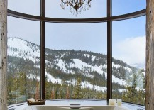 Take a refreshing dip as you enjoy the majestic view outside