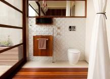 Timber duckboard makes a comeback in the contemporary bathroom