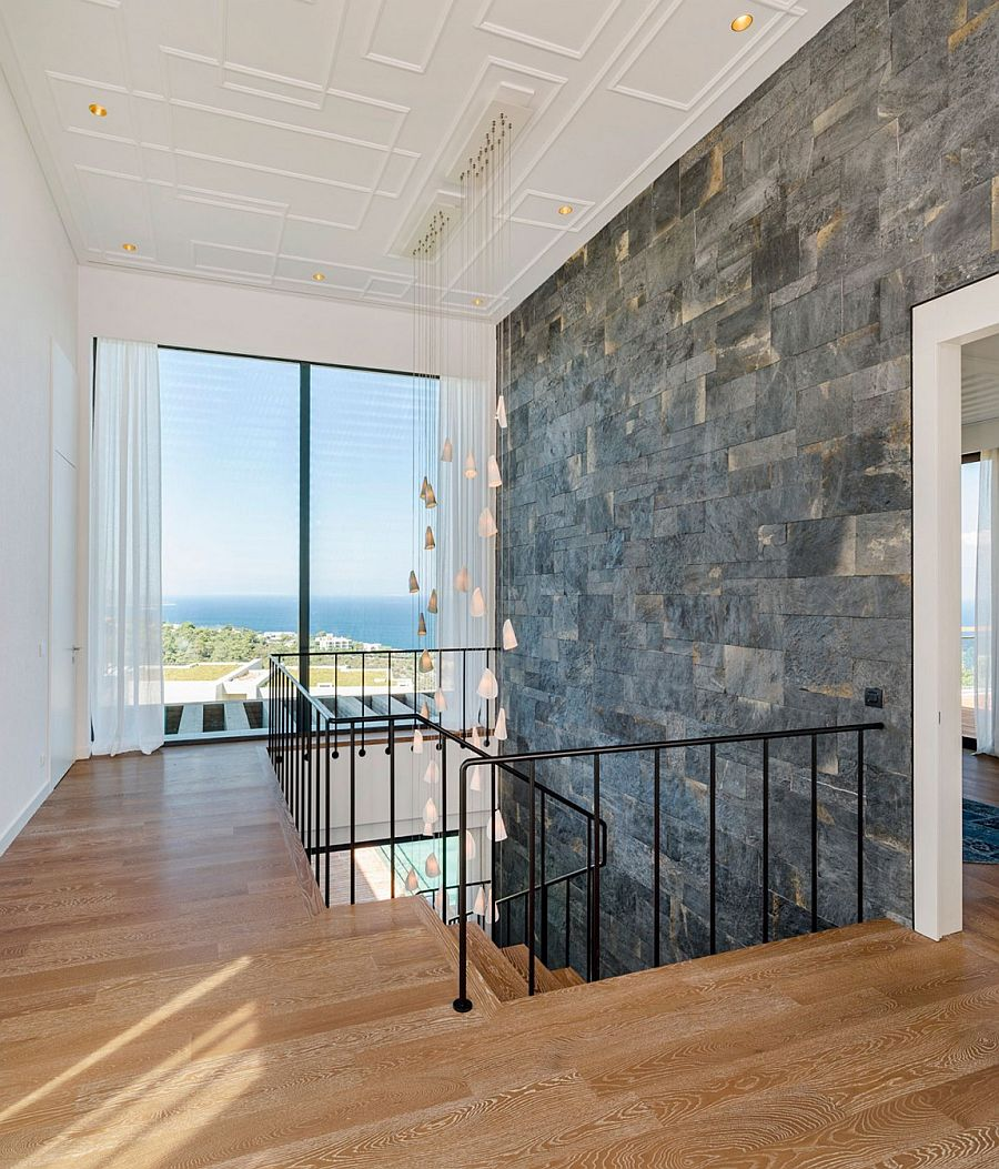 Top level of the Y House opens up to the stunning sea view outside