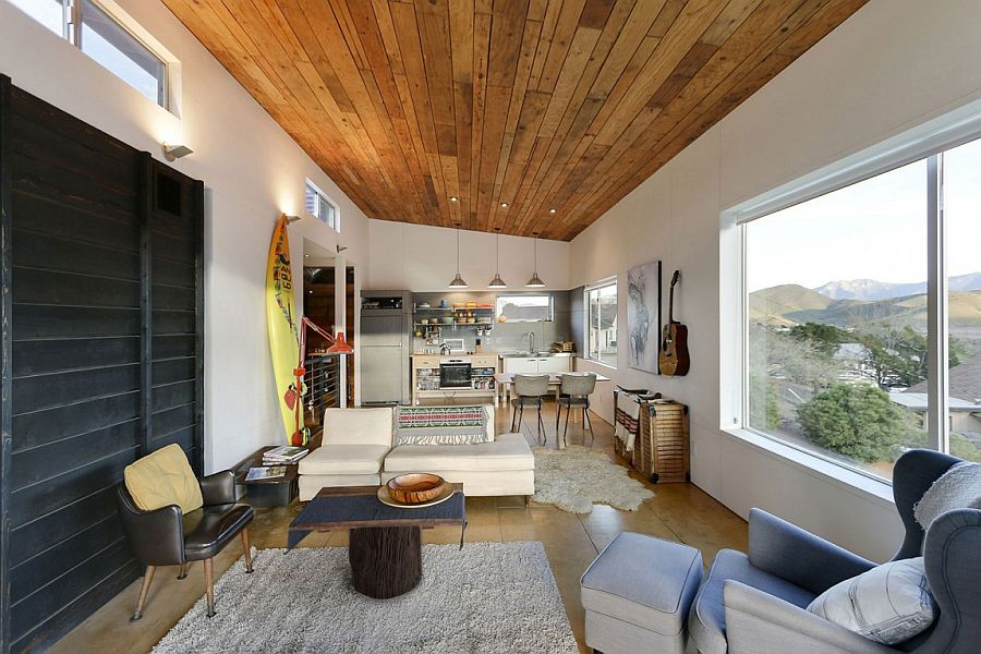 Top level open plan living of 510 cabin