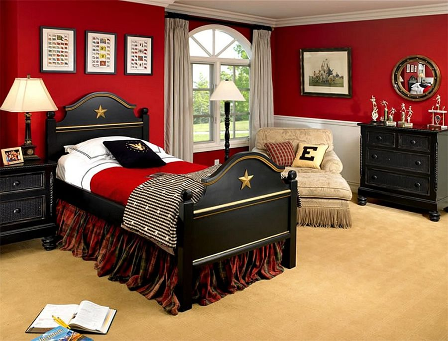 Traditional Bedroom Ideas For Boys fiery and fascinating: 25 kids' bedrooms wrapped in shades of red