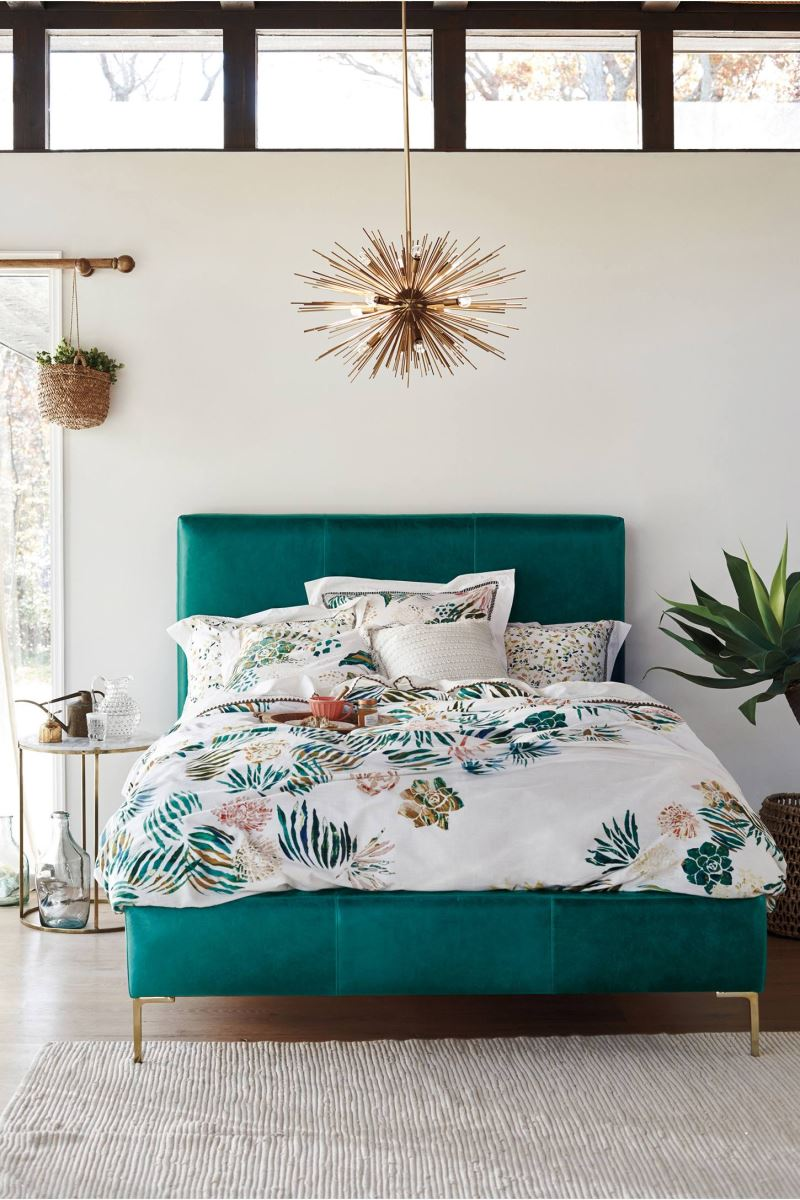 Tropical bedroom style from Anthropologie