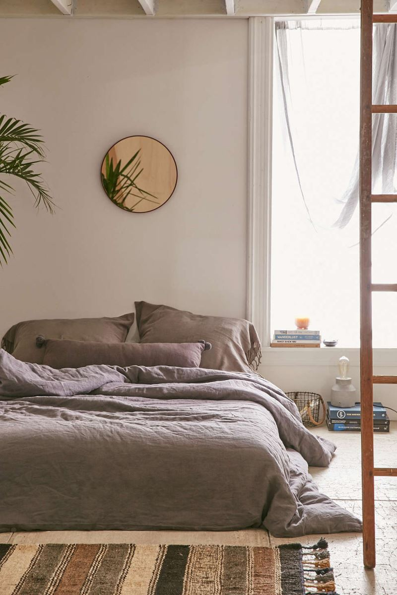 Tropical plant in a bedroom from Urban Outfitters