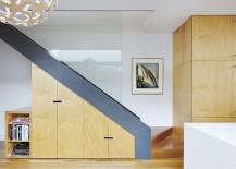 Under staircase storage area design