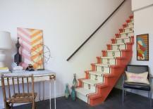 Vintage runner design for the shabby chic staircase