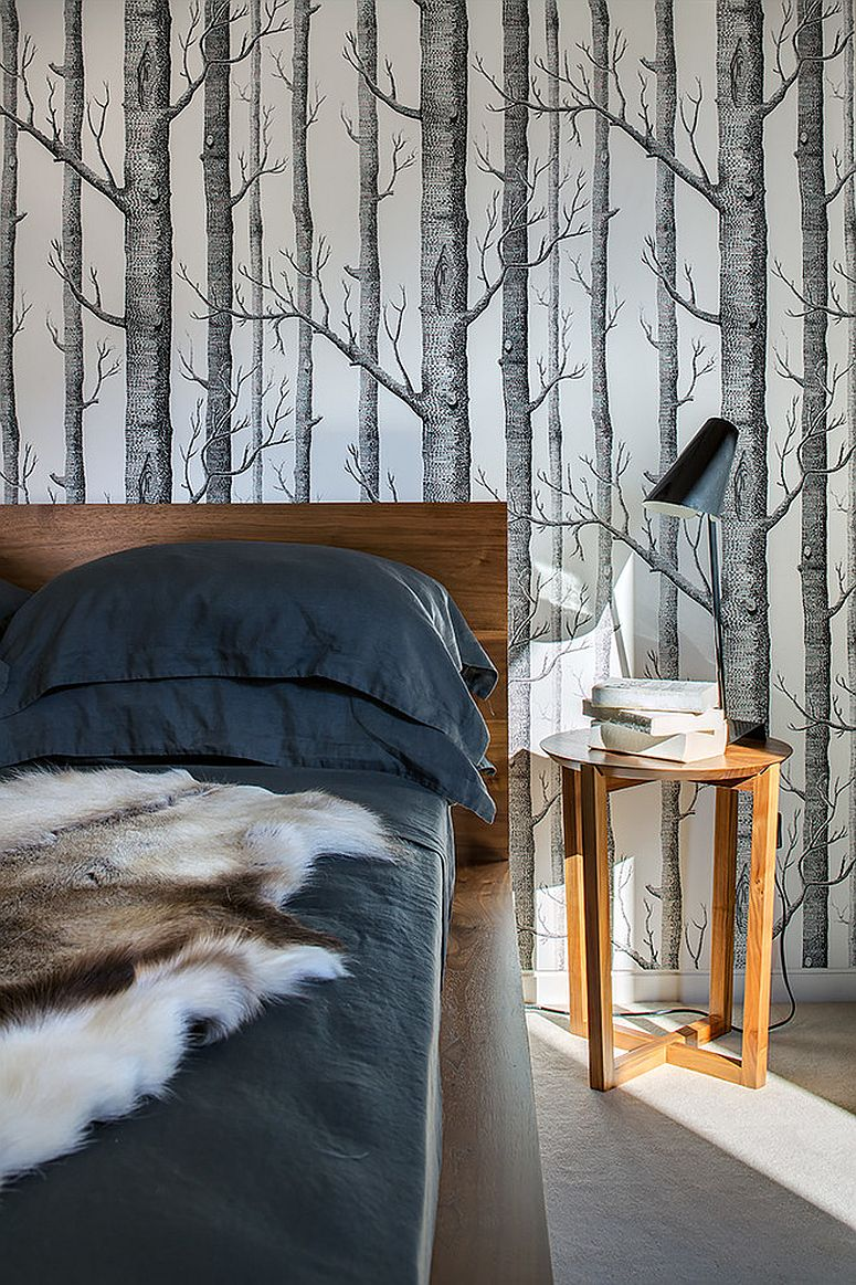 ... Wallpaper In Neutral Colors Is Perfect For A Bedroom That Needs Only  Pattern [Design: