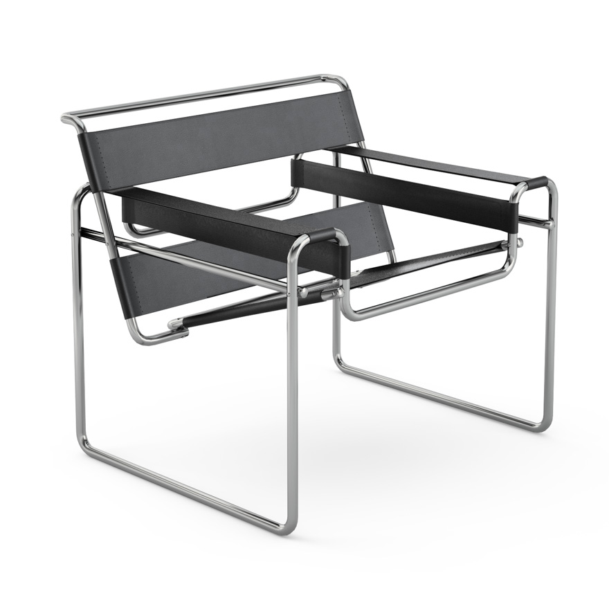 Wassily Chair in black leather