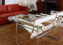 Wassily Chair in white leather
