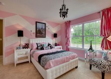 White-and-pink-chevron-accent-wall-217x155