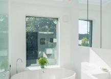 White bathroom with a crisp feel