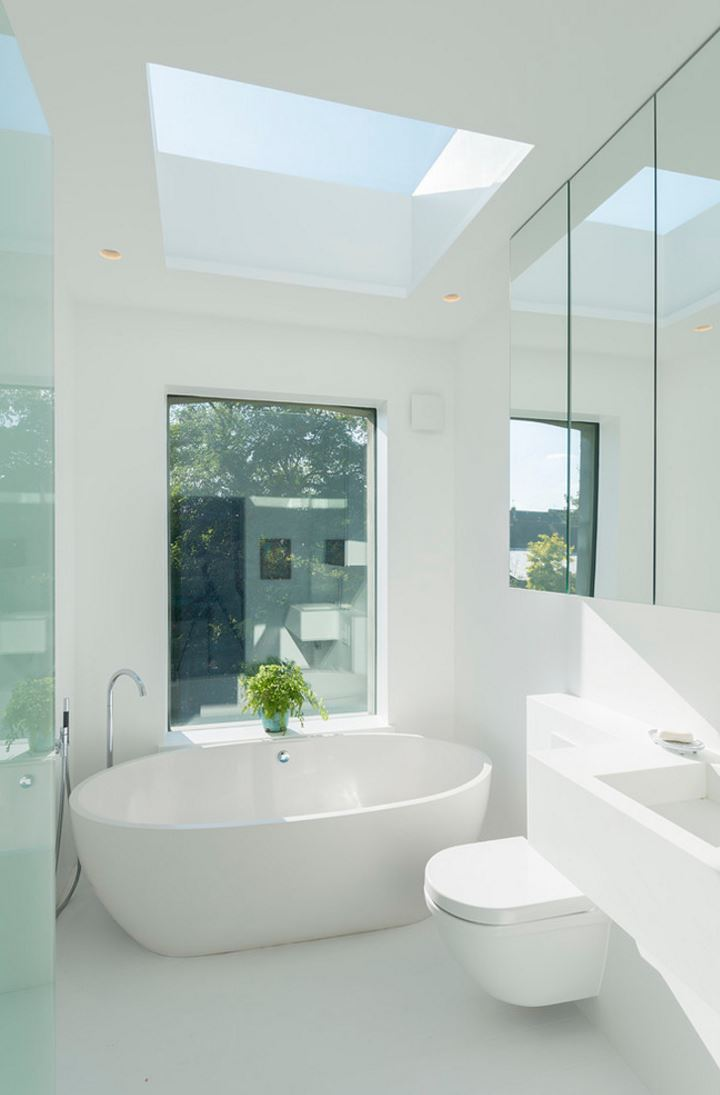 White bathroom with a crisp feel