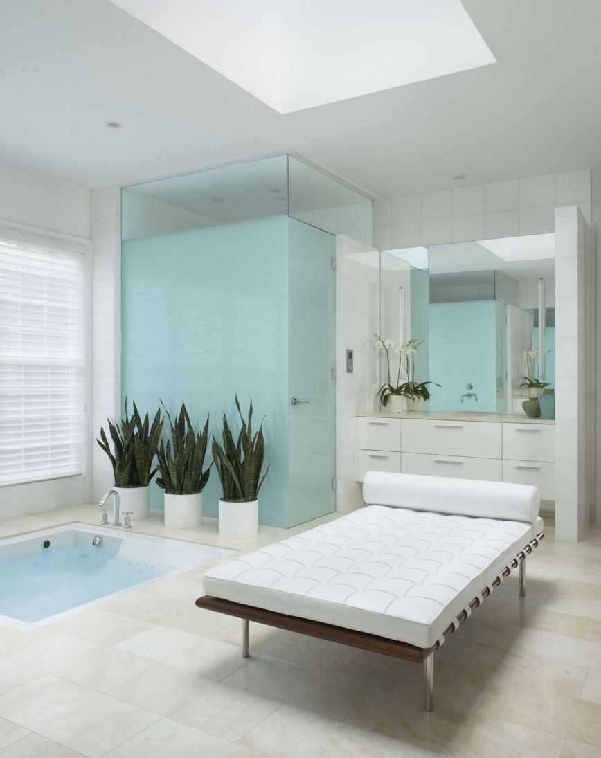 White bathroom with a spa vibe