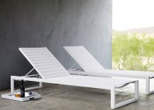 White chaise lounges from Design Within Reach
