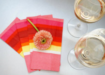 White wine and Valentines Day napkins 217x155 Table Decor Ideas for Your Valentines Day Dinner