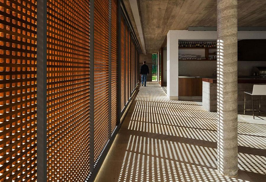 Wooden doors usher in natural light