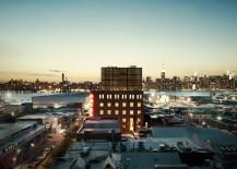 Wythe Hotel and Manhattan skyline