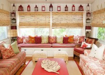A captivating collection of lanterns for the colorful sunroom