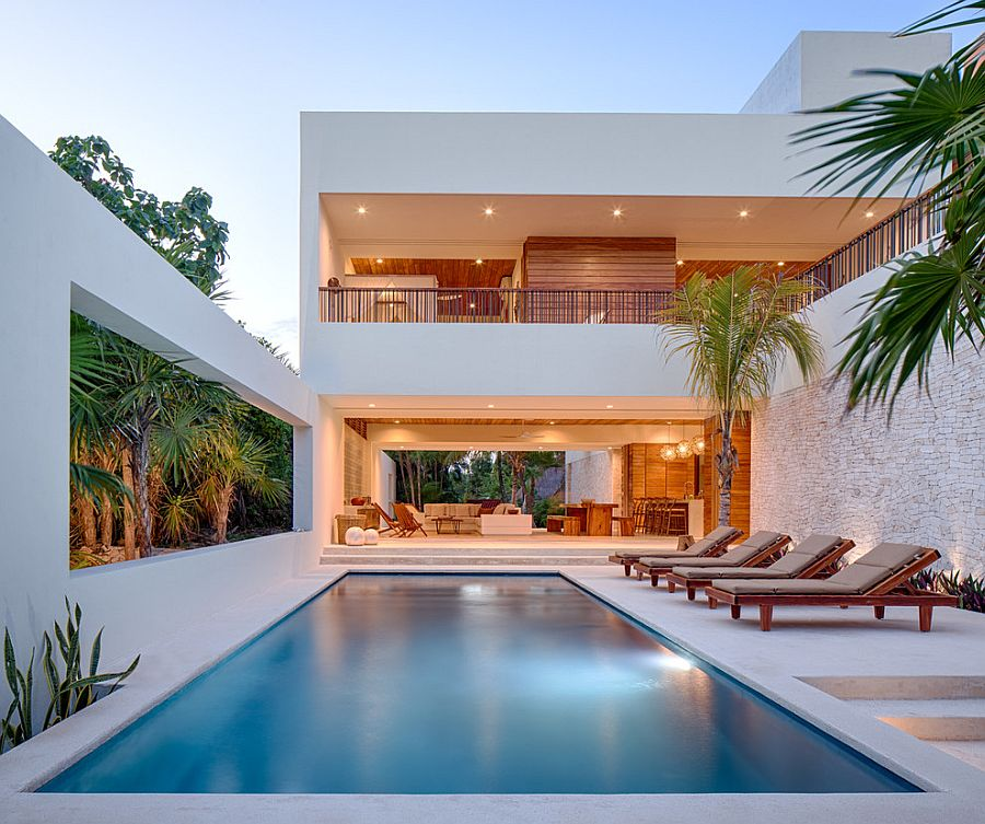 A dash of tropical goodness for the contemporary, urban poolside landscape [Design: Specht Architects]