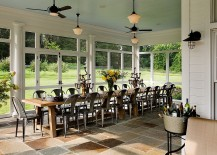 A dashing farmhouse dining room with the Marais A Chair in full strength