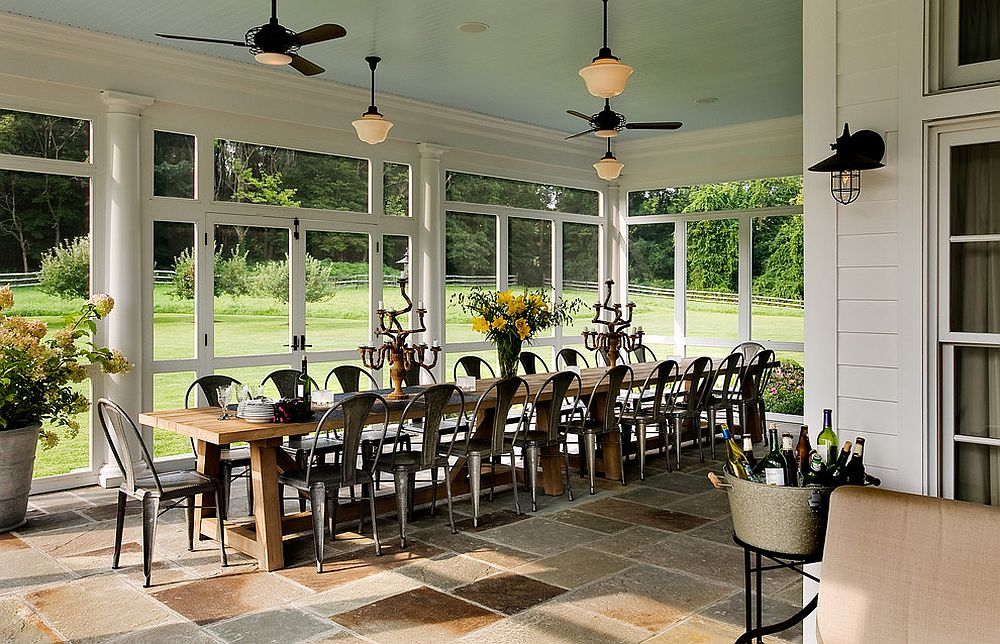 A dashing farmhouse dining room with the Marais A Chair in full strength [Design: Crisp Architects]