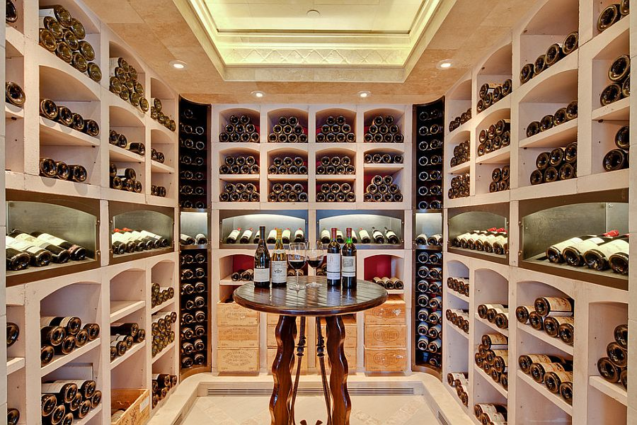 View In Gallery A Simple Wine Tasting Zone At The Heart Of The Lovely Wine  Cellar [Design: